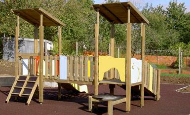 struttura ludica per parco giochi / in legno / modulare