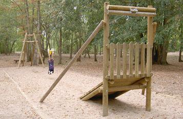 altalena in legno / per parco giochi