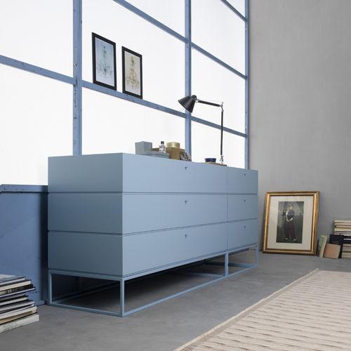 cassettone moderno / in metallo / blu