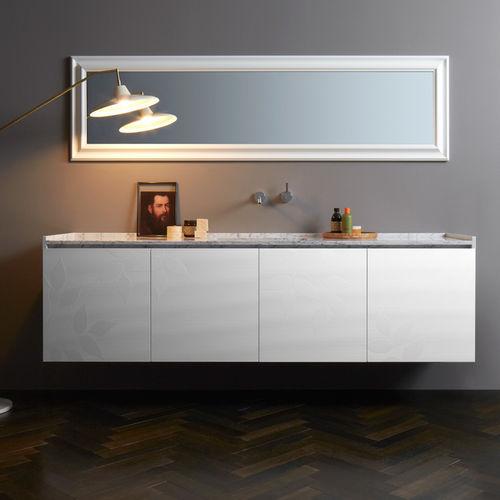 mobile lavabo sospeso / in Solid Surface / in marmo / moderno