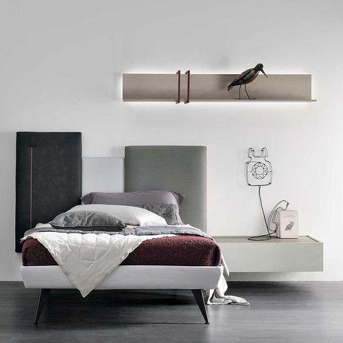 cameretta bianca / grigia / in legno laccato / in melamminico