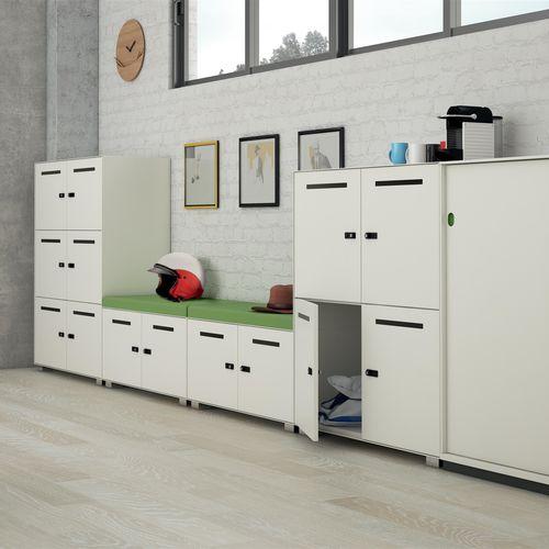 armadietto spogliatoio in acciaio / standard / per ufficio