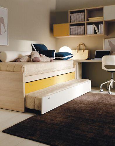 letto con letto estraibile / moderno / per bambini (unisex) / in legno