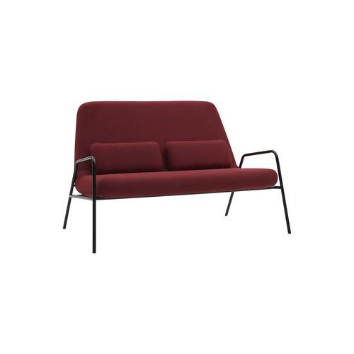 divano compatto / design scandinavo / in tessuto / in acciaio