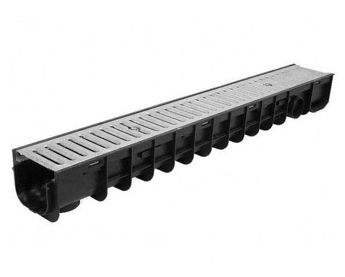 canaletta in acciaio galvanizzato / in polipropilene / con griglie / per spazio pubblico