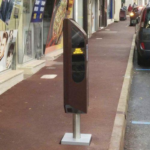 colonna di controllo accessi / in metallo / automatica / per parcheggio