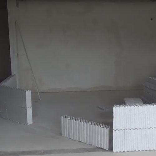 blocco cassero in polistirene espanso PSE / per muro interno / per parete / isolante