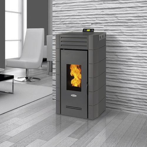 stufa-caldaia a pellet / in acciaio / moderna
