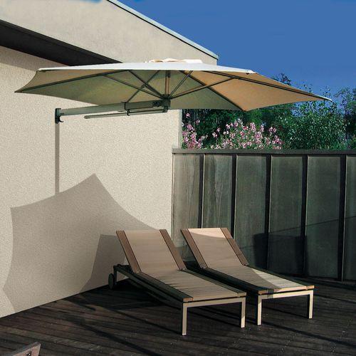 ombrellone da parete / in alluminio / in poliolefina / orientabile