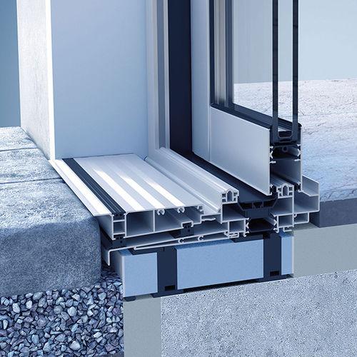 sistema scorrevole per porte in vetro / in metallo