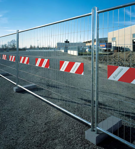 recinzione a maglia saldata / per spazio pubblico / per cantiere / in acciaio galvanizzato