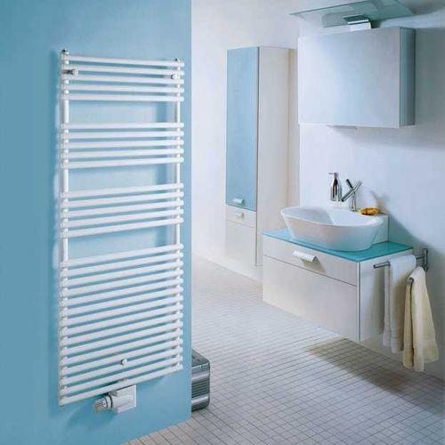 scaldasalviette ad acqua calda / elettrico / in acciaio inox / cromato