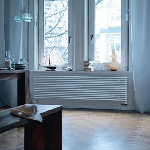 radiatore ad acqua calda / in acciaio / moderno / trasparente