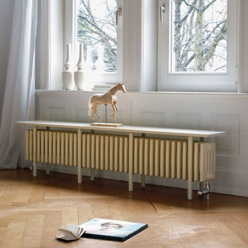 radiatore ad acqua calda / in acciaio / moderno / a panca
