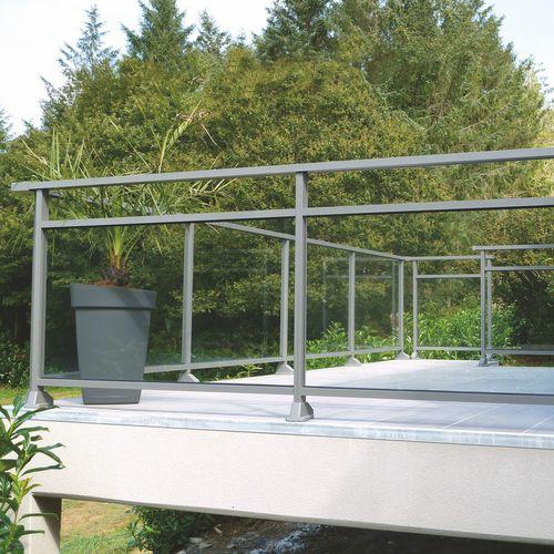 ringhiera in vetro / in alluminio / a pannelli / da esterno