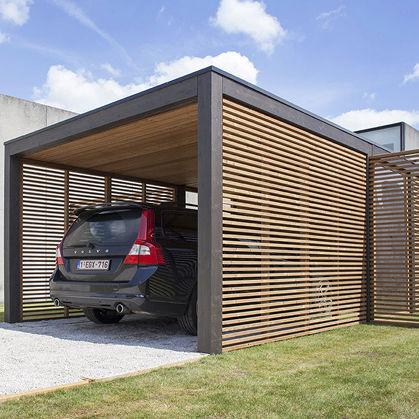 tettoia per posto-auto in legno