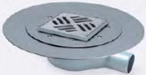 piletta in acciaio inox / per doccia / quadrata