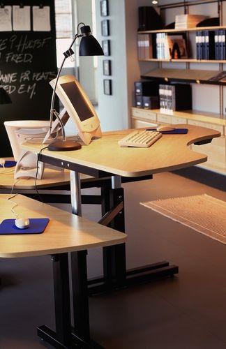 scrivania multimedia / in alluminio / moderna / contract