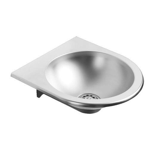 lavabo sospeso / in acciaio inossidabile / moderno