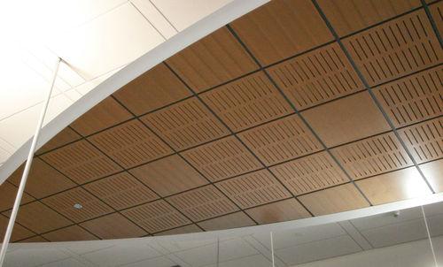 controsoffitto in legno / in pannelli / acustico