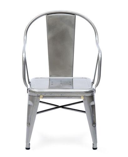 sedia in stile industriale / con braccioli / impilabile / per bambini