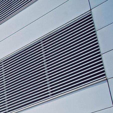 griglia di ventilazione in metallo / lineare / per facciate