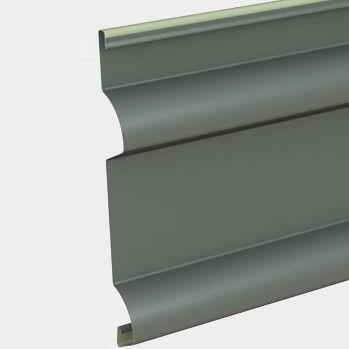 rivestimento di facciata a doghe / in acciaio galvanizzato / con scanalature