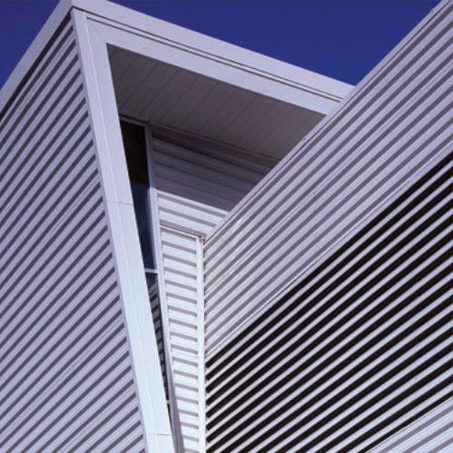 griglia di ventilazione in alluminio / rettangolare / lineare / per facciate