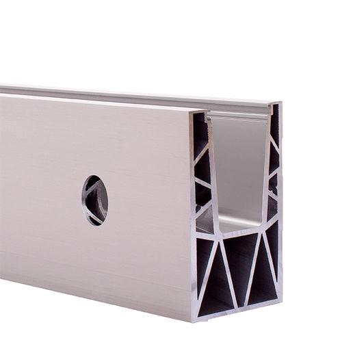 sistema di fissaggio in alluminio anodizzato