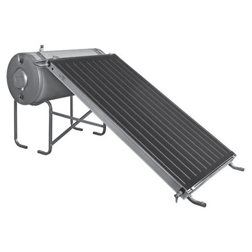 scaldacqua solare / da appoggio / orizzontale / con collegamento a caldaia