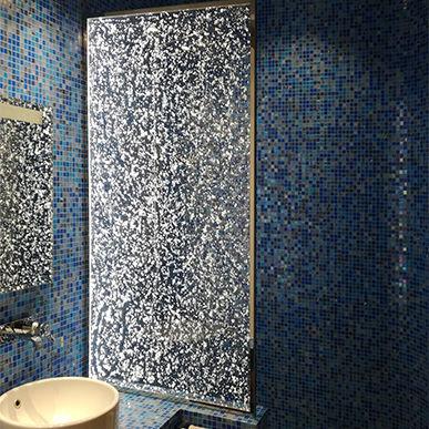 parete doccia fissa / luminosa / professionale