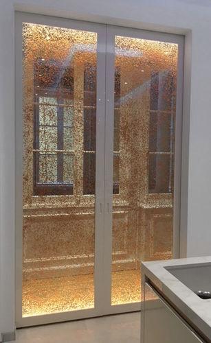 porta da interni / scorrevole / in acrilico / per edifici pubblici