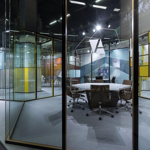 parete amovibile / modulare / vetrata / a doppi vetri
