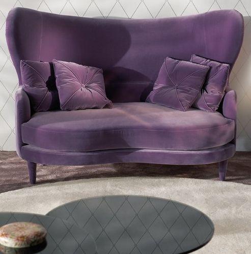 divano design nuovo barocco / in tessuto / 2 posti / bianco