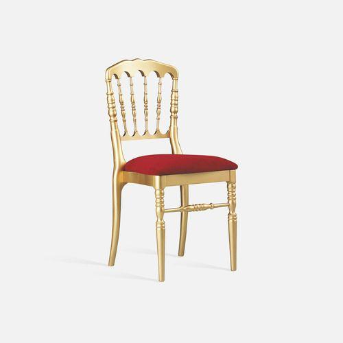 sedia da conferenza imbottito / impilabile / in tessuto / in faggio