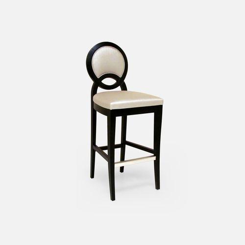 sedia alta moderna / imbottita / con poggiapiedi / a medaglione