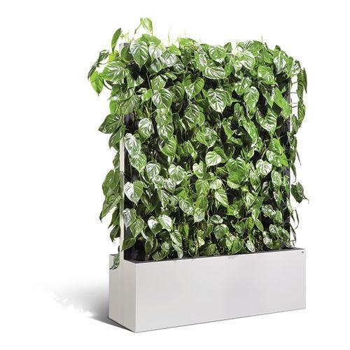 vaso da giardino in metallo / da appoggio / rettangolare / con graticolato