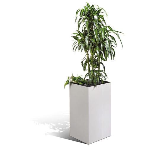 vaso da giardino in metallo / da appoggio / quadrato