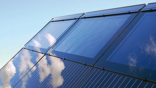 pannello termico piano / per l'integrazione architettonica / con telaio