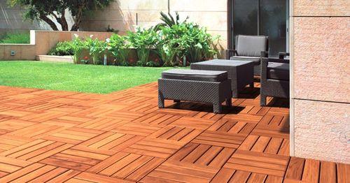 grigliato in legno esotico / per pavimento esterno