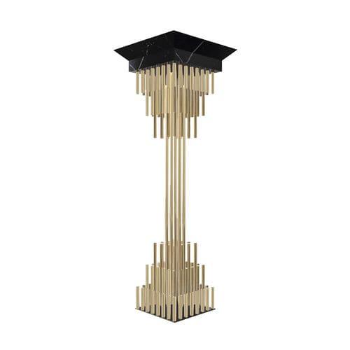 colonna in ottone placcato oro