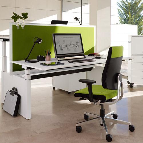 poltrona da ufficio moderna / in tessuto / girevole / con base a stella