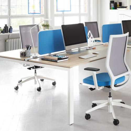 scrivania per open space / in legno / moderna / contract