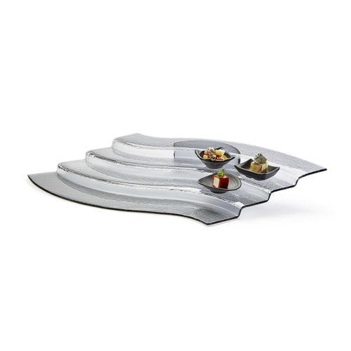 espositore da bancone / per prodotti alimentari / in vetro / in acciaio inox