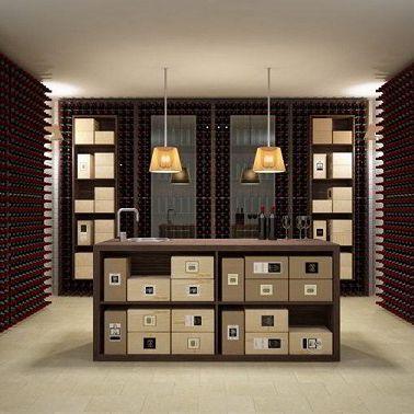 cantinetta professionale / a muro / in legno / su misura