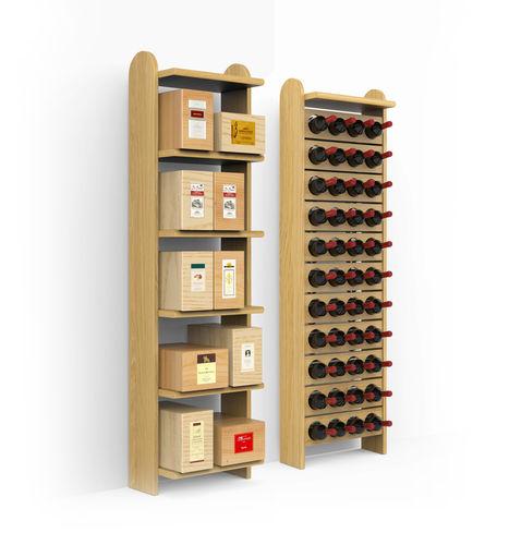 portabottiglie in legno / a muro / contract