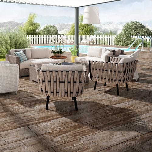 pavimento in ceramica / per uso contract / a quadrotte / aspetto legno