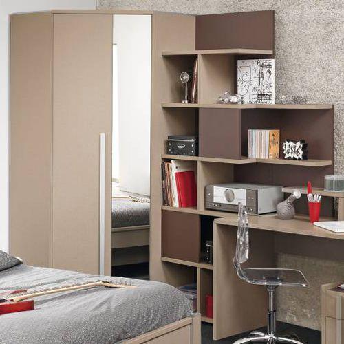 armadio ad angolo / moderno / in melamminico / con ante battenti