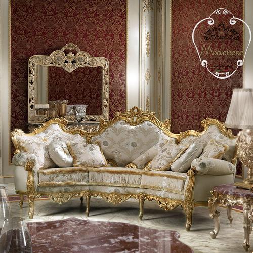 divano a semicerchio / in stile / in tessuto / in legno massiccio