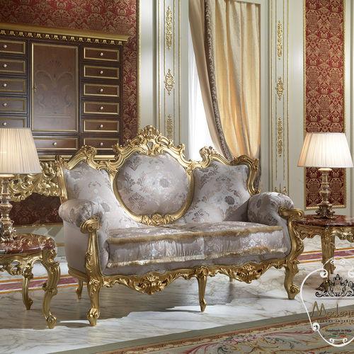 divano design nuovo barocco / in tessuto / in legno massiccio / per hotel